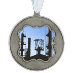 Oil Refinery Pewter Ornament