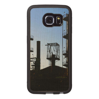 Oil Refinery Wood Phone Case