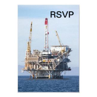 Oil Rig 3.5x5 Paper Invitation Card