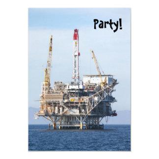 Oil Rig 5x7 Paper Invitation Card