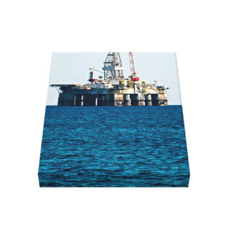 Oil Rig At Sea Canvas Print