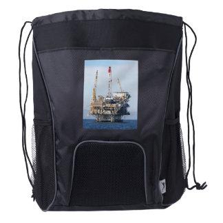 Oil Rig Drawstring Backpack
