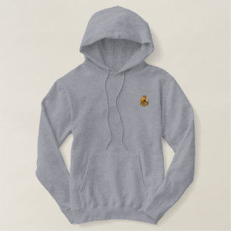Oil Rig Drilling Bit Embroidered Hoodie