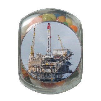 Oil Rig Glass Candy Jar