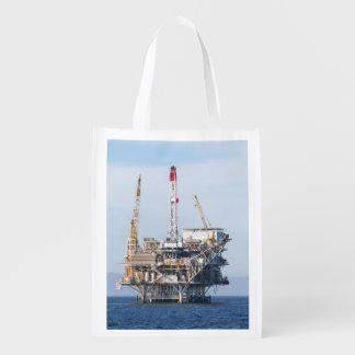 Oil Rig Grocery Bag