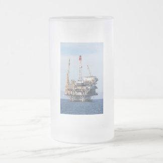 Oil Rig 16 Oz Frosted Glass Beer Mug