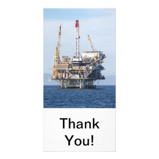 Oil Rig Picture Card