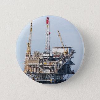Oil Rig Pinback Button