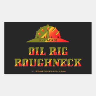 Oil Rig Roughneck,Oil Patch,Hard Hat,Gas,Gift Rectangular Sticker