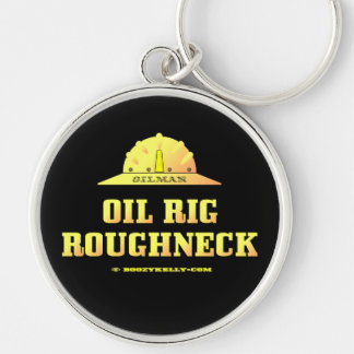 Oil Rig Roughneck,Oilman,Keychain,Gift,Oil Rigs Silver-Colored Round Keychain