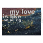 oil rig stationery note card