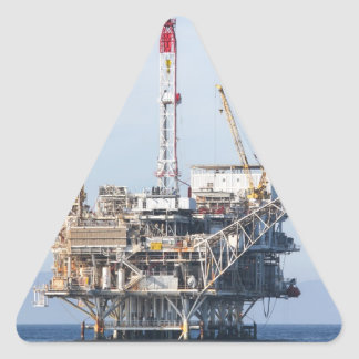 Oil Rig Triangle Sticker