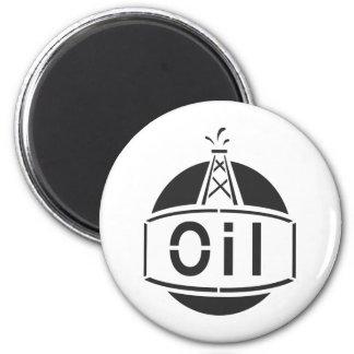 Oil Rig Worker 2 Inch Round Magnet