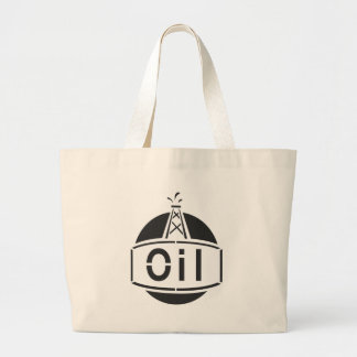 Oil Rig Worker Large Tote Bag