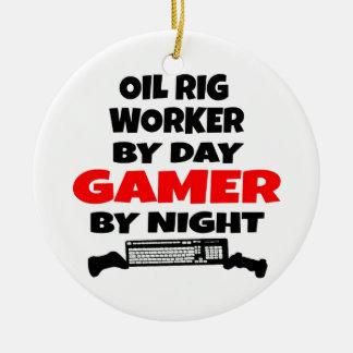 Oil Rig Worker Zombie Slayer Ceramic Ornament