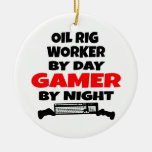 Oil Rig Worker Zombie Slayer Christmas Tree Ornament