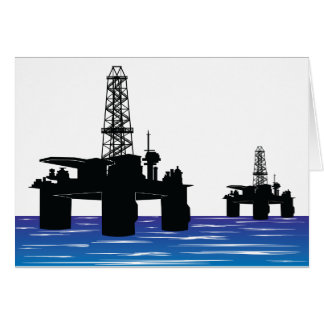 Oil Rigs Greeting Cards