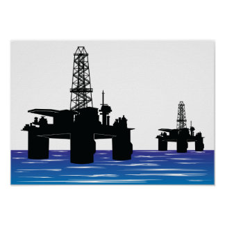 Oil Rigs Poster