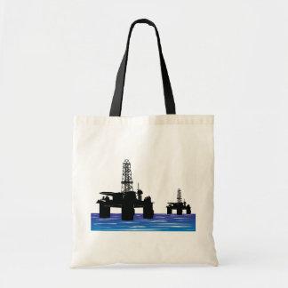 Oil Rigs Tote Bag