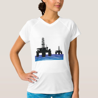 Oil Rigs Womens Active Tee