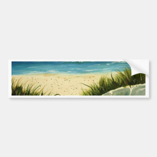 oil sand dunes beach art  painting bumper sticker