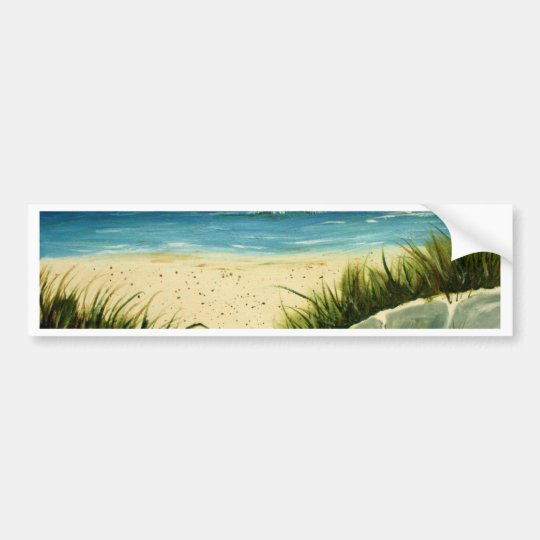 oil sand dunes beach art  painting bumper sticker