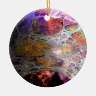 Oil Slick Ceramic Ornament