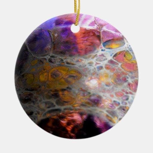 Oil Slick Christmas Ornaments
