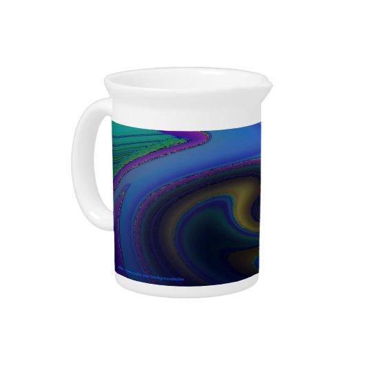 Oil Slick Rainbow Fade Drink Pitcher