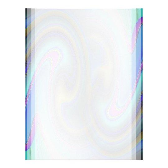 Oil Slick Rainbow Fade Letterhead