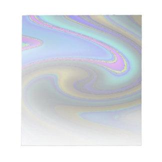 Oil Slick Rainbow Fade Notepad