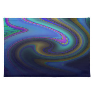 Oil Slick Rainbow Fade Placemat