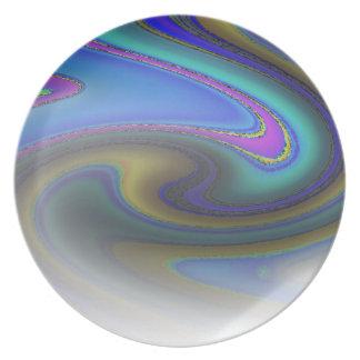 Oil Slick Rainbow Fade Plate