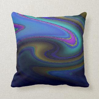 Oil Slick Rainbow Fade Throw Pillow