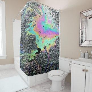 Oil Slick Shower Curtain