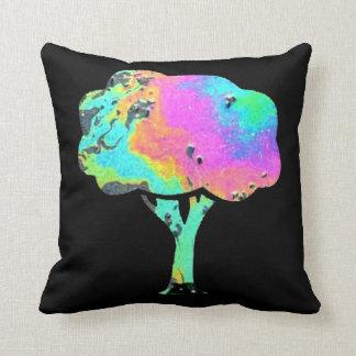 Oil Slick Tree Throw Pillow