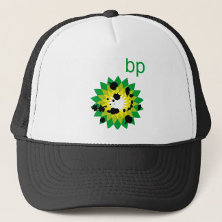 Oil Spattered BP Logo Trucker Hat
