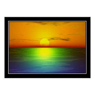 Oil Spill colors Print Poster