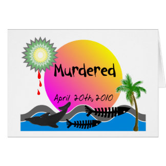 Oil Spill Disaster T-Shirts and Products Card