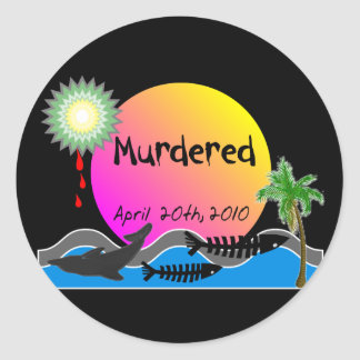 Oil Spill Disaster T-Shirts and Products Classic Round Sticker