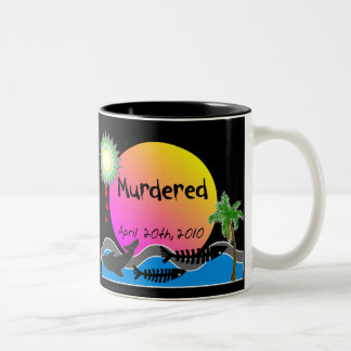 Oil Spill Disaster T-Shirts and Products Two-Tone Coffee Mug