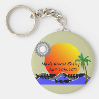 OIL Spill Disaster T-Shirts Keychain
