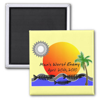 OIL Spill Disaster T-Shirts Magnet