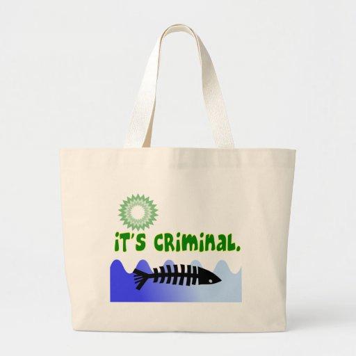 "Oil Spill Gulf Coast ""it's Criminal"" Dead Fish Bags"