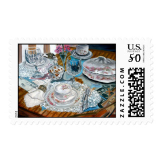 oil still life painting postage stamps art