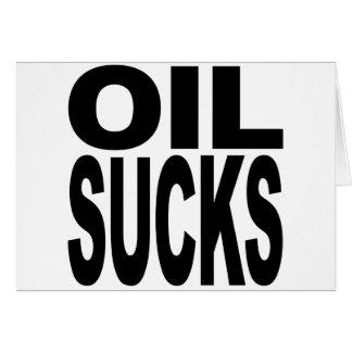 Oil Sucks Card