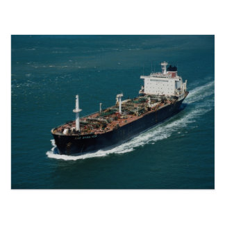 Oil tanker postcard