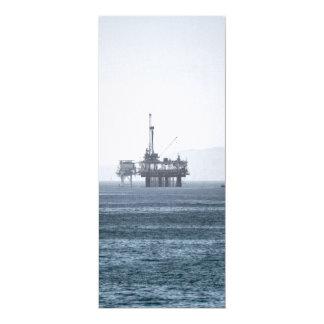Oil Tower 4x9.25 Paper Invitation Card