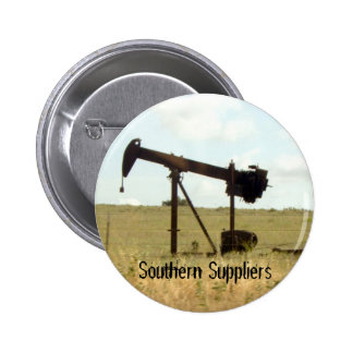 Oil well pinback button