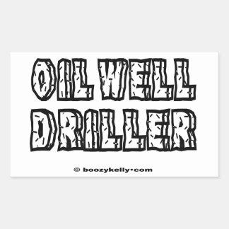 Oil Well Driller,Drilling,Oil,Gas,Rigs,Derrick Rectangular Sticker